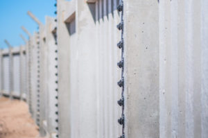 Business Concrete Palisade Fences